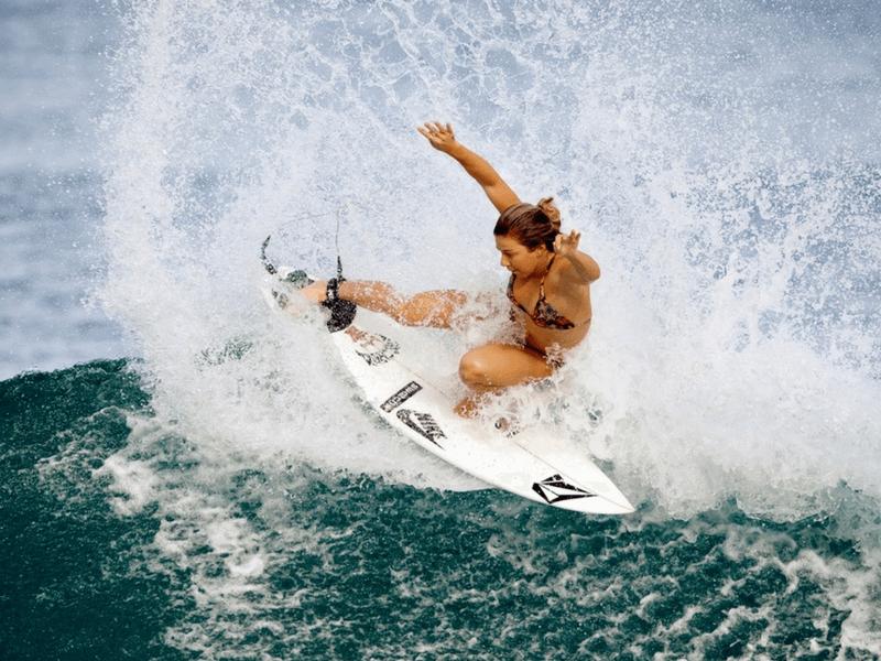 surferka na fali