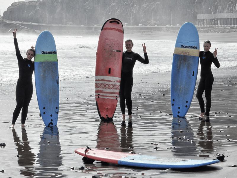 Gran Canaria Girls Surf Camps lekcja surfingu