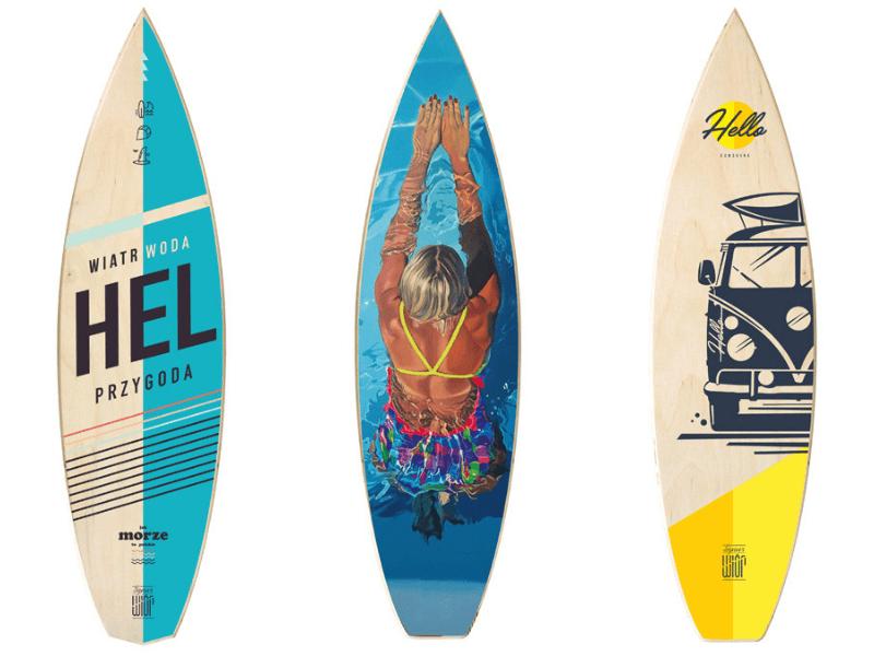 prezent dla surferki dekoracje sznur wior
