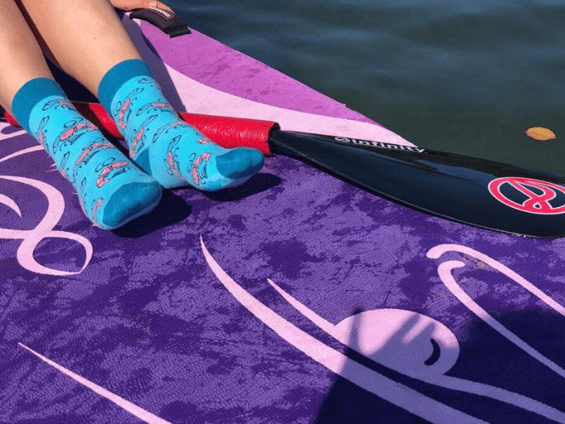 kolorowe skarpetki w krewetki kabak socks