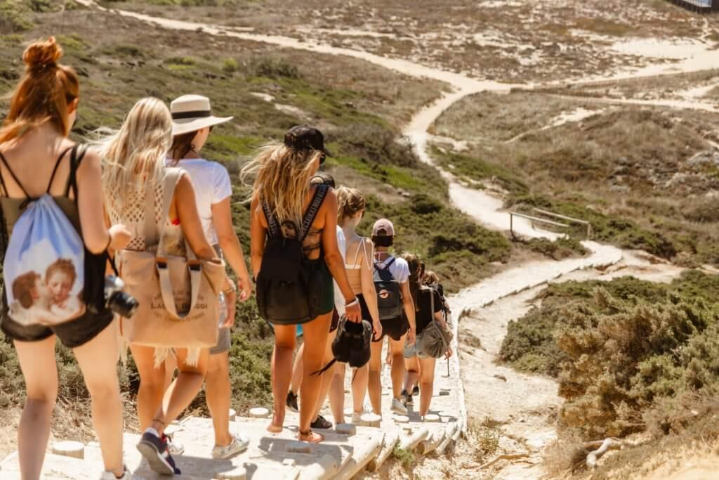 wycieczka po klifach w Portugalii